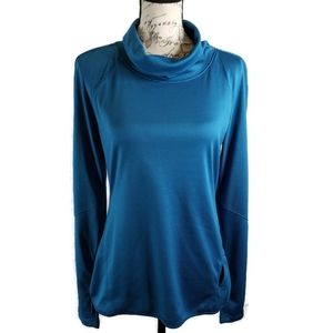 Layers M athletic pullover long sleeve turquoise
